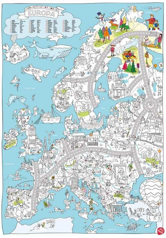Op Reis Met De Grootste Speel Kleurplaat Van Europa