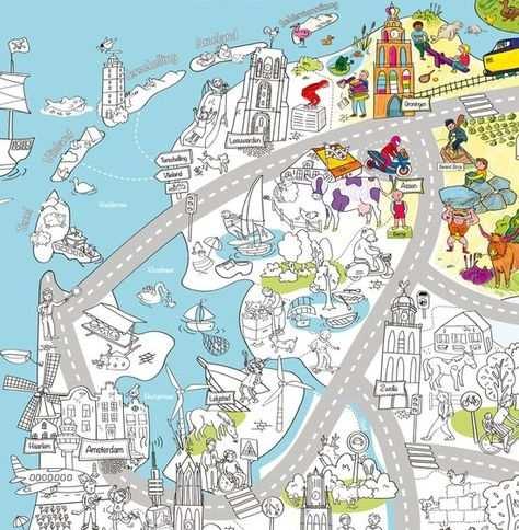 Very Mappy Nederland Xxl Speel Kleurplaat Van Nederland Met