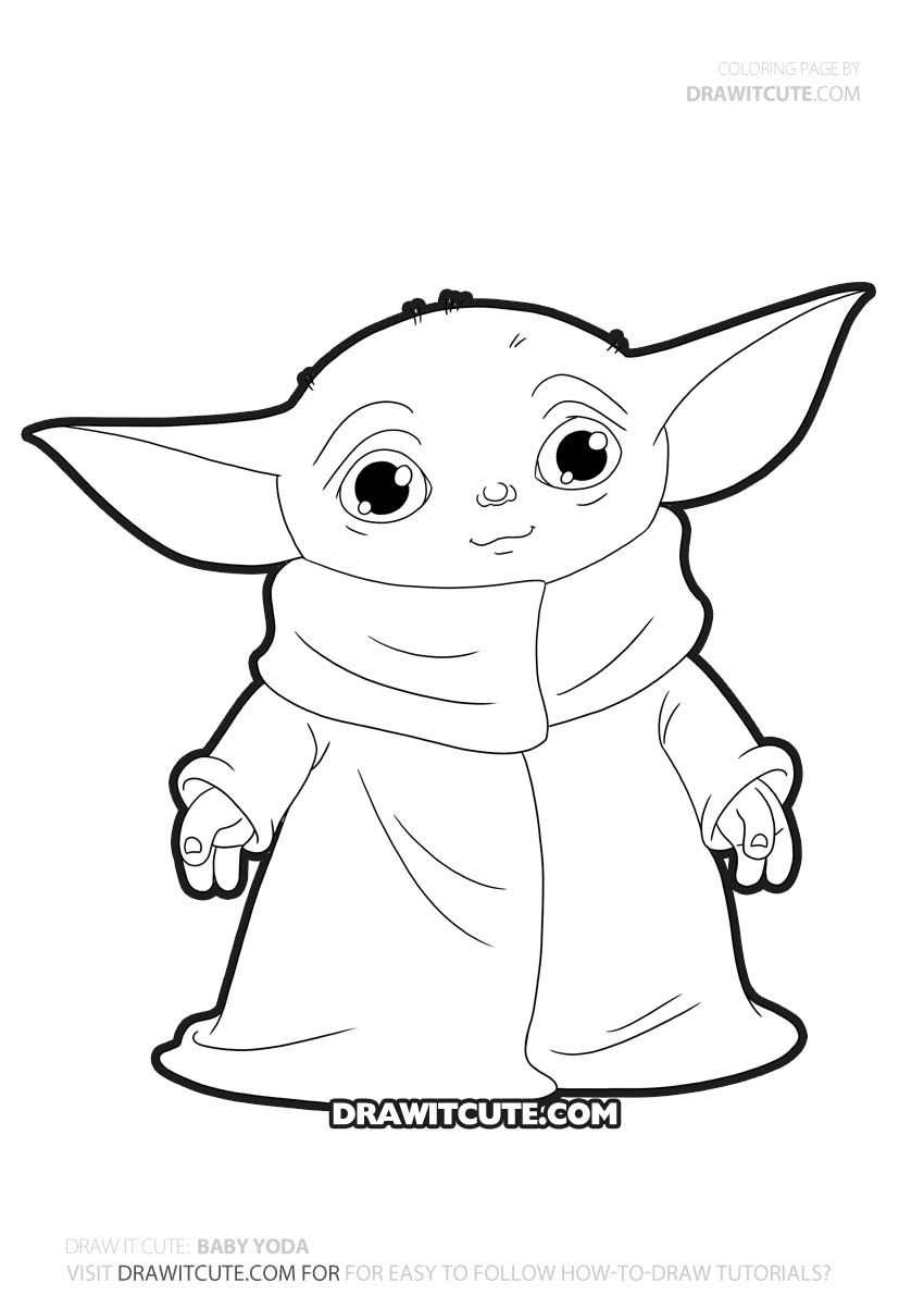 How To Draw Baby Yoda In 2020 Star Wars Drawings Star Wars