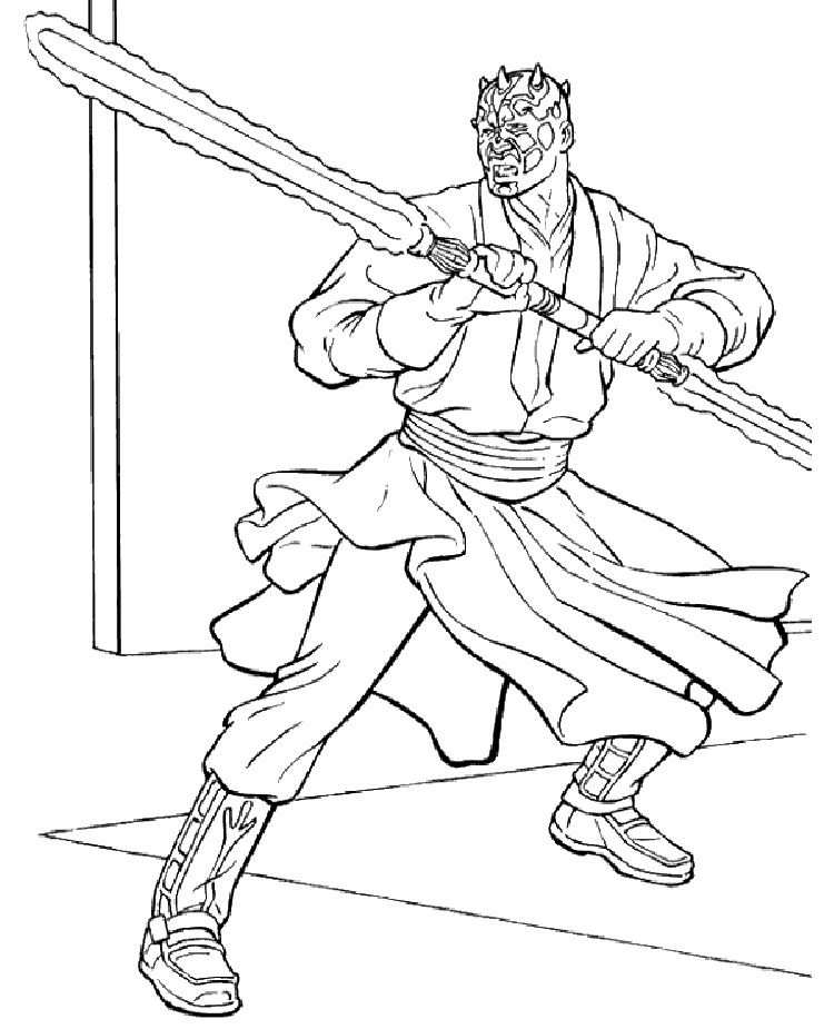 Star Wars Coloring Pages Darth Maul Star Wars Coloring Book