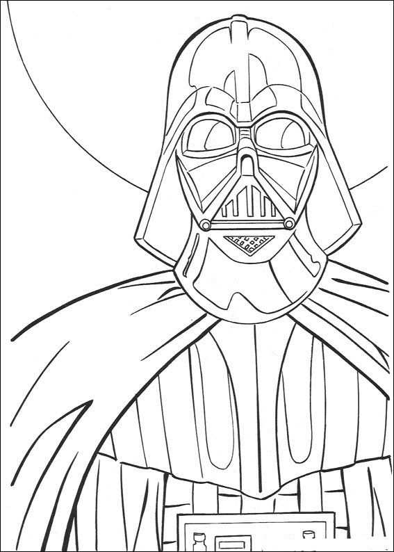 Kleurplaat Star Wars Darth Vader Star Wars Kunst Kleurplaten