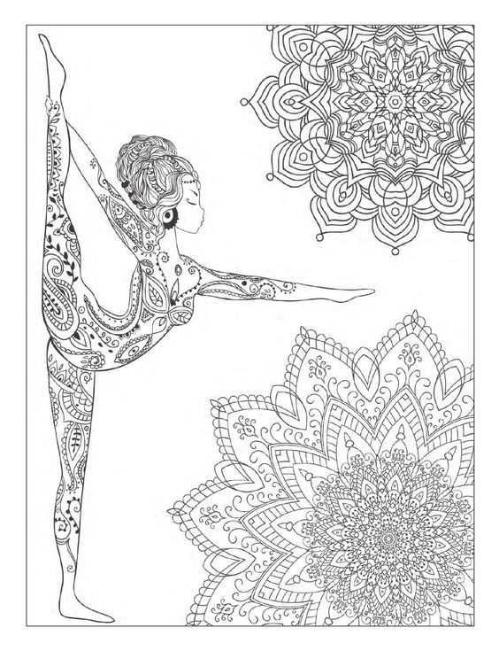 Pin Van Barbara Op Coloring Sport Dance Yoga Met Afbeeldingen