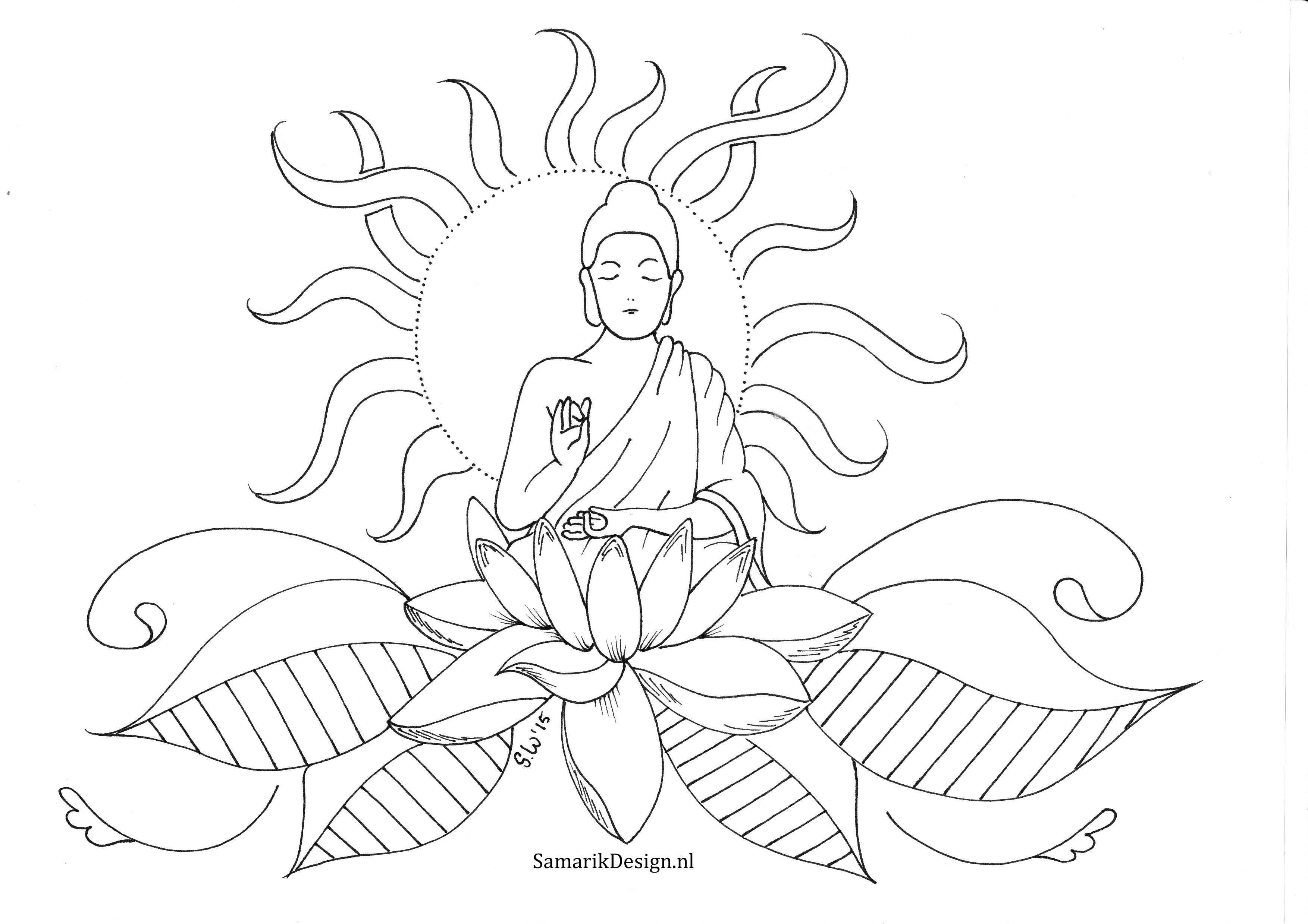 Kleurplaat Voor Volwassenen Lotus With Images Pattern