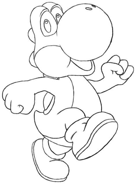 All Yoshi Coloring Pages How To Draw Yoshi Draw Central With