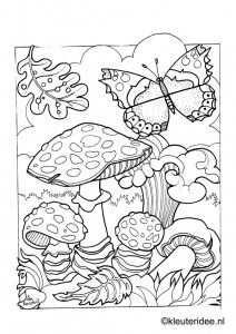 Coloring Page Butterfly Kleuteridee Nl Butterfly Preschool