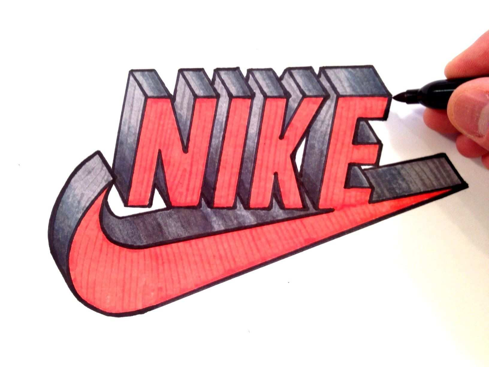 How To Draw Nike Logo In 3d Best On Youtube Youtube Avec