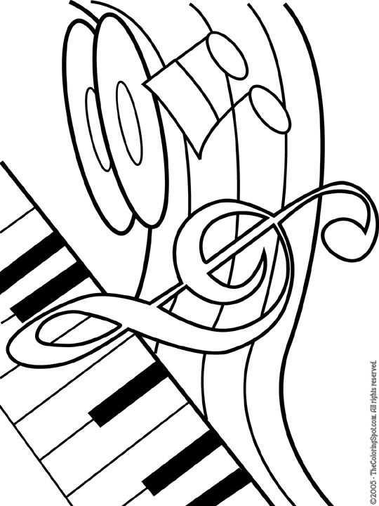 Kleurplaat Kleurplaat Muziekinstrument 3926 Kleurplaten With