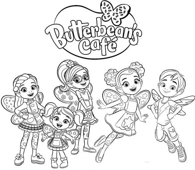 Butterbeans Cafe Logo With Images Coloring Pages Cute