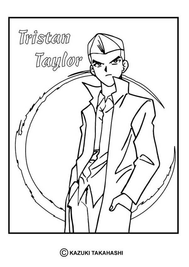 Tristan Taylor Coloring Page More Yu Gi Oh Coloring Sheets On