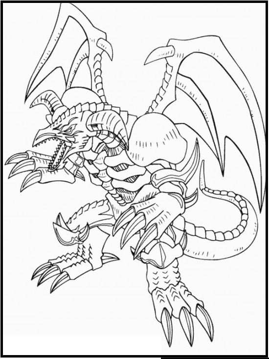 Yu Gi Oh Black Skull Dragon Coloring Picture For Kids Dragon