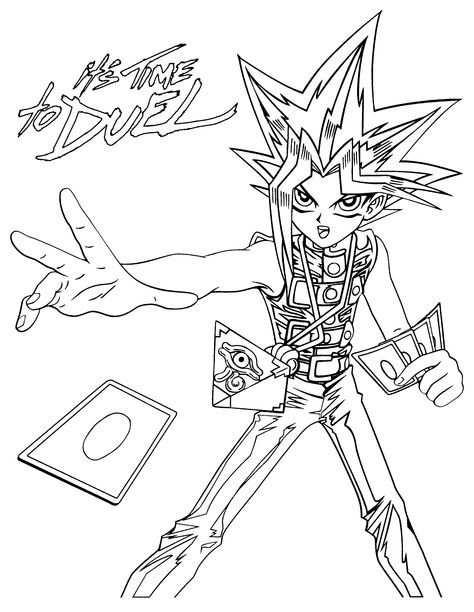 Yu Gi Oh Coloring Pages Desenhos Desenho Anime