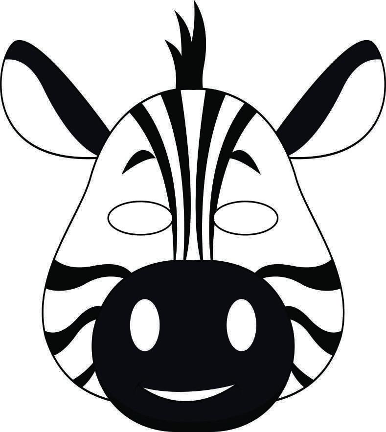 Jungle Masks Dieren Thema Kleurplaten