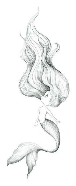 Kleurplaat Zeemeermin Mermaid Drawings Mermaid Art Sketches