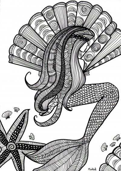 Printables Mermaid Coloring Pages Mermaid Coloring Coloring Pages