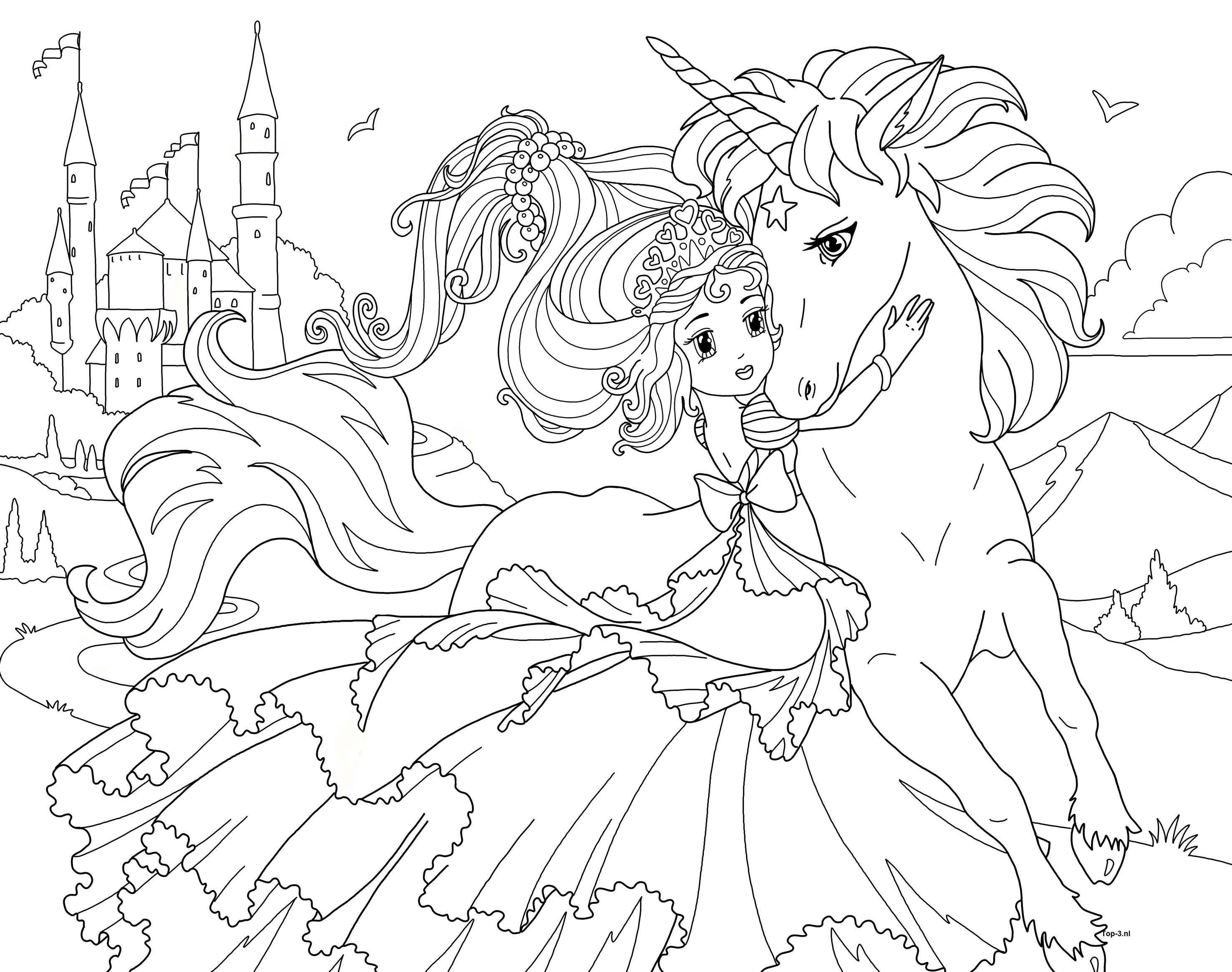 Kleurplaten Prinses Sprookjes Zeemeermin Kleurplaten