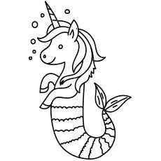 kleurplaat zeemeermin unicorn