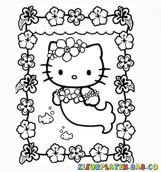 Kleurplaten Hello Kitty Zeemeermin Kleurplaten Hello Kitty