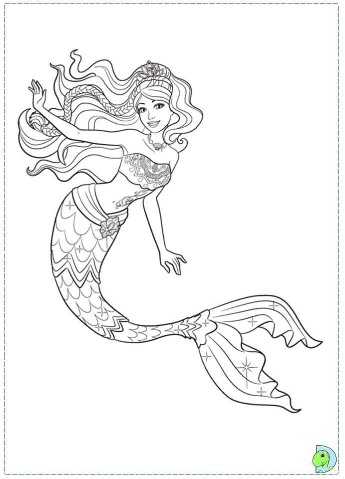 Mermaid Tale Colouring Pages Page 2 With Images Mermaid