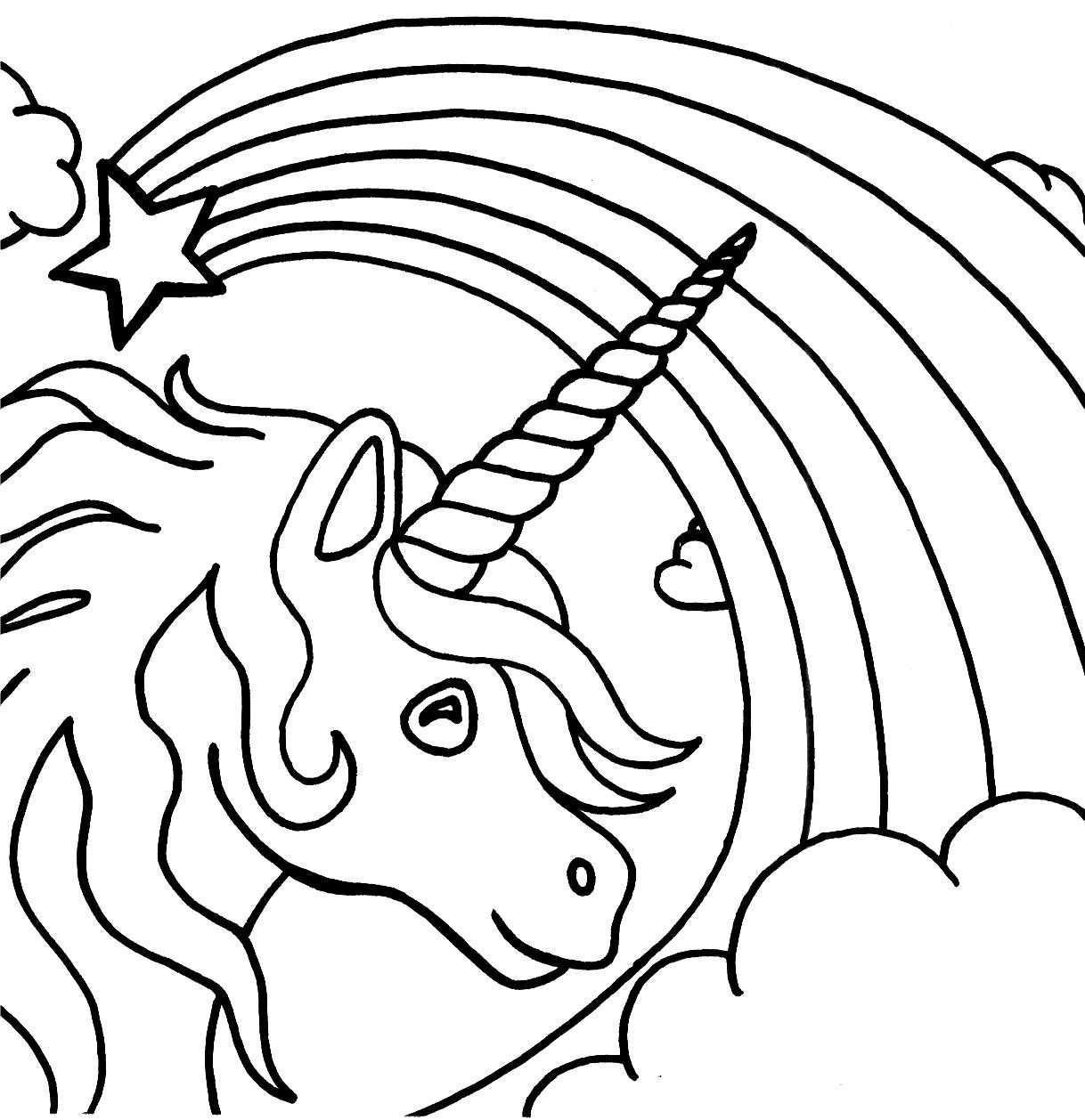 Free Printable Unicorn Coloring Pages For Kids Met Afbeeldingen
