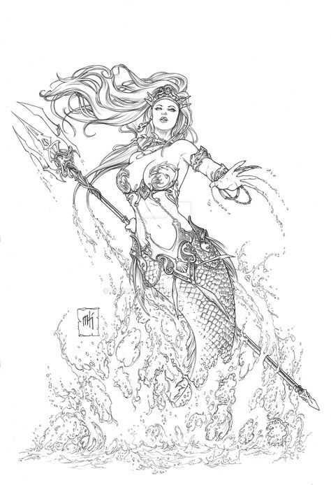 Finally A Warrior Mermaid Tattoo Met Afbeeldingen De Kleine