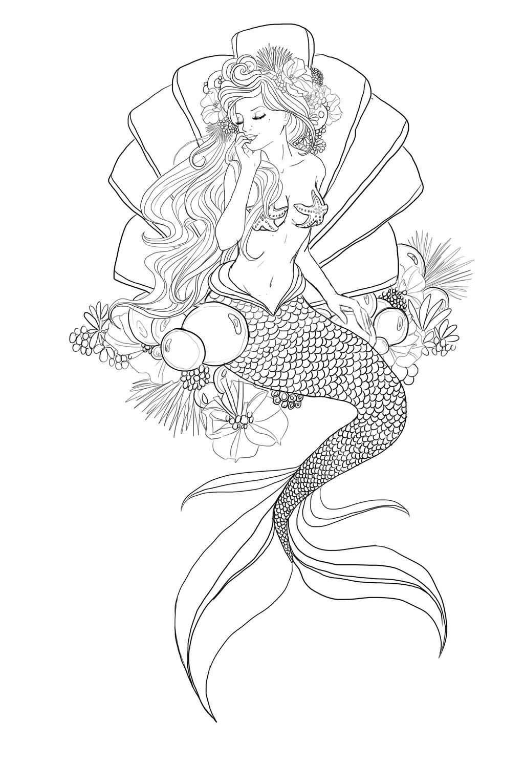 Mermaid By Dadalife01 Zeemeerminkunst Kleurplaten Zeemeerminnen