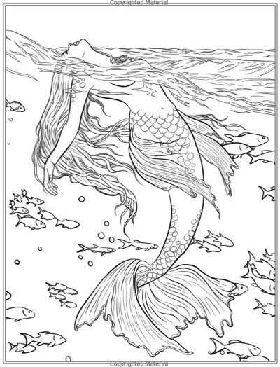 Best Mermaid Coloring Pages Coloring Books Kleurplaten