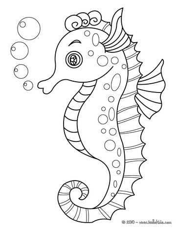 Kleurplaat Zeepaardje Kleurplaten Dieren Kleurplaten Mandala