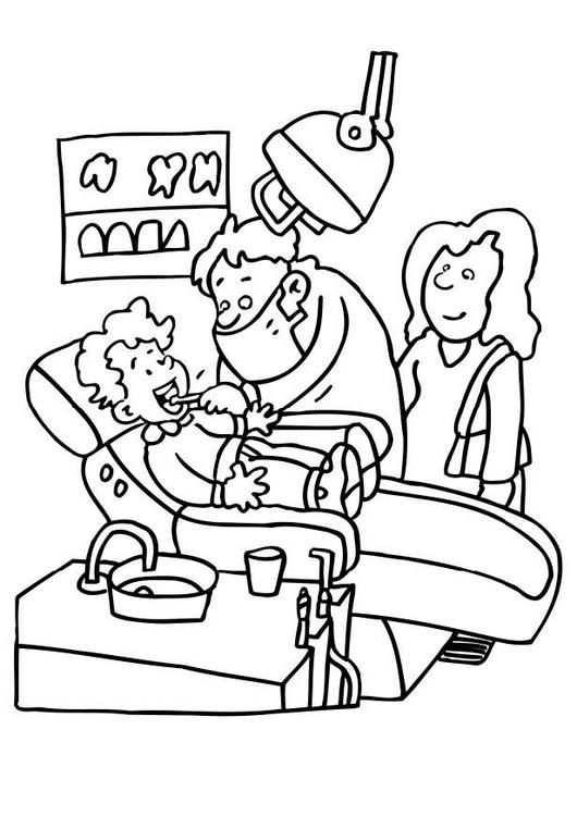 Dentiste School Dokter Tandarts Ziek Gezonde Tanden Tanden