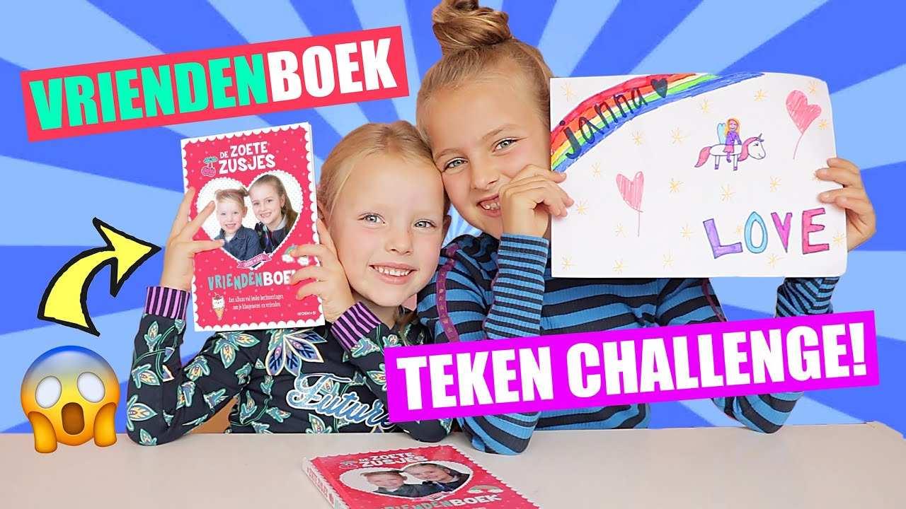Het Zoete Zusjes Vriendenboekje En Teken Challenge