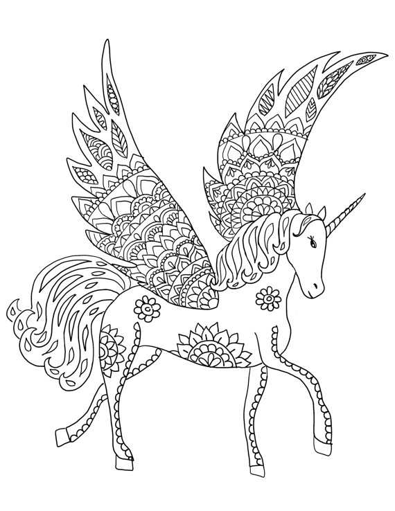 Kleurplaten Unicorns