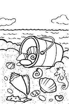 Afbeeldingsresultaat Voor Kleurplaten Zee Strand Schepen Met