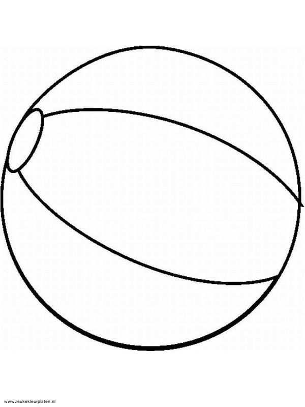 Tekening Van Een Strandbal De Kindjes Kunnen Deze Zelf Inkleuren