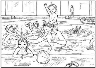 Zwembad Kleurplaat Zomer Kleurplaten Kleurplaten Thema
