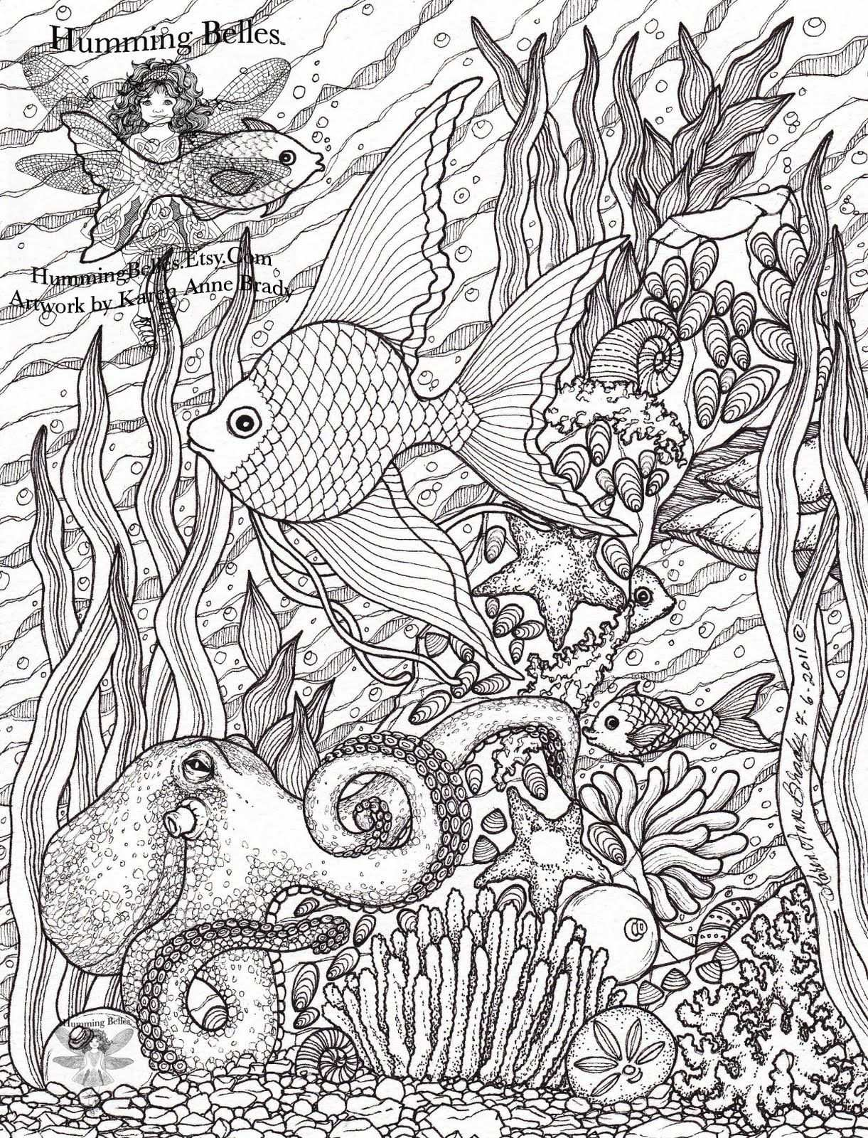 New Undersea Illustrations And Coloring Pages Kleurplaten