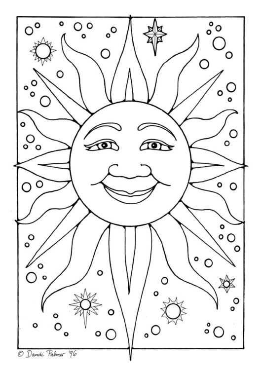 Kleurplaat Zon Coloriage Soleil Coloriage Alphabet De Broderie