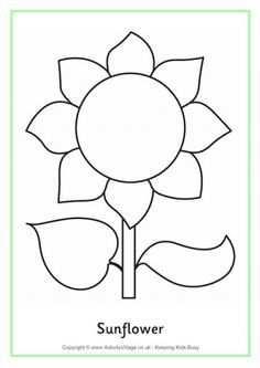 Afbeeldingsresultaat Voor Zonnebloem Kleurplaat Sunflower
