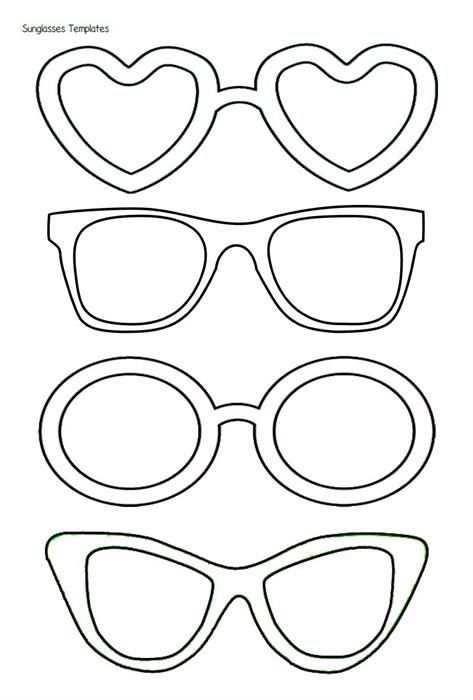 Zonnebrillen Met Afbeeldingen Zomerknutsels Kleurplaten