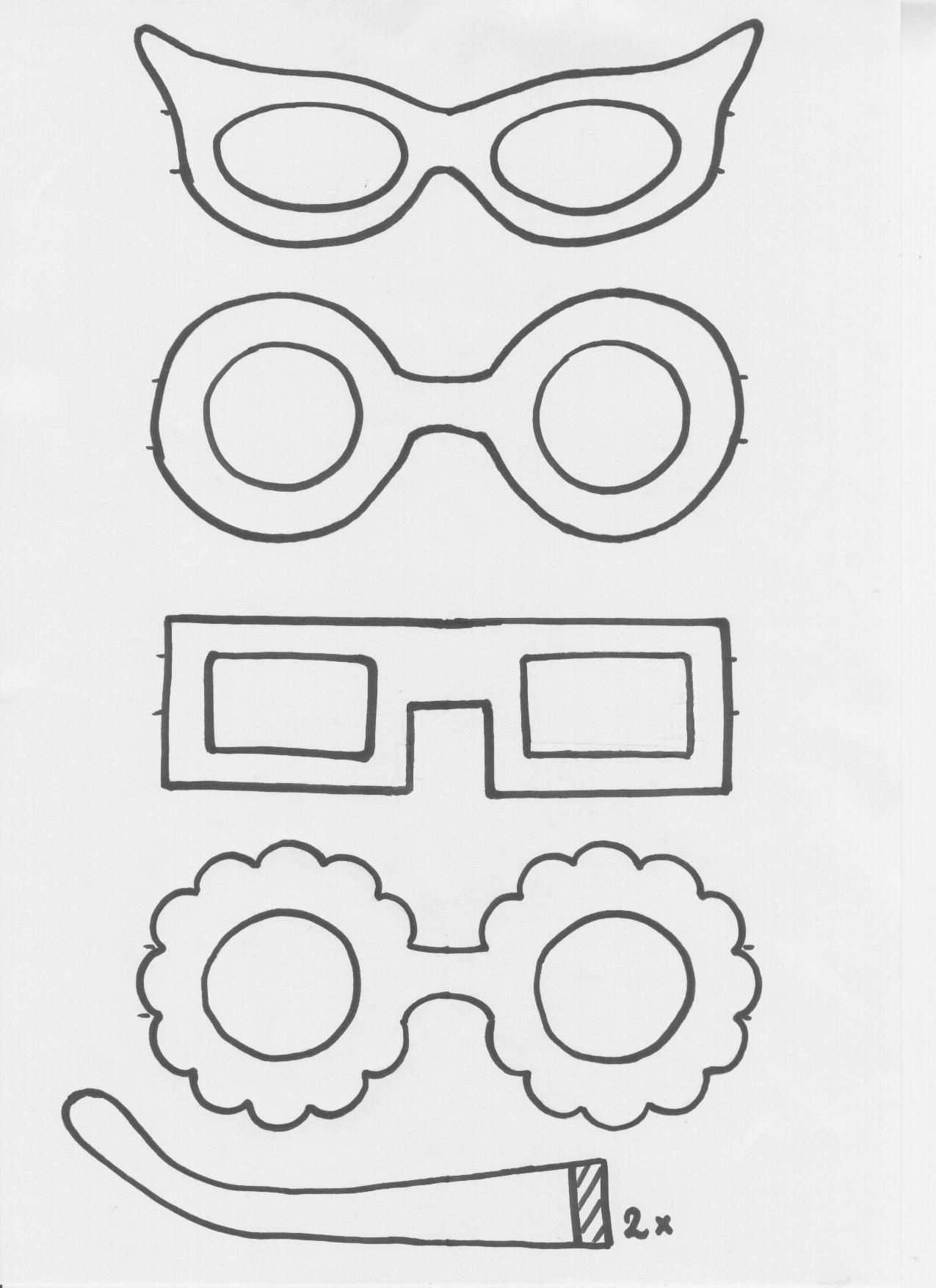 Gekke Brillen Als Attribuut Bijbelknutselwerk Kleurplaten Thema