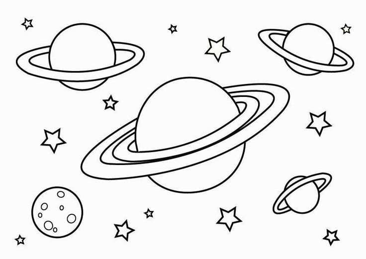 kleurplaat zonnestelsel