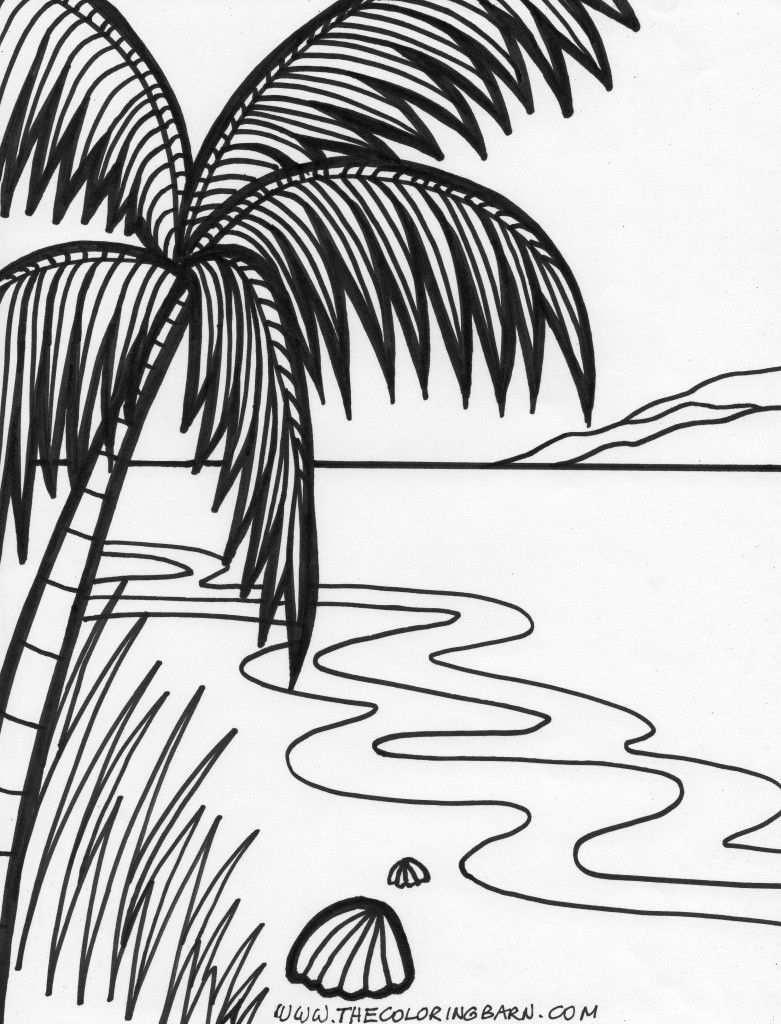 Island Tide Coloring Page Tekenen Leren Schilderen Drawing