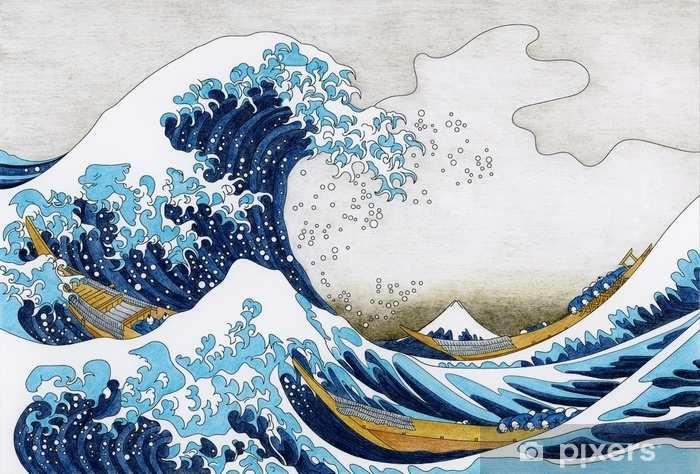 Fotobehang Hokusai De Grote Golf Van Kanagawa Volwassen Kleurplaat