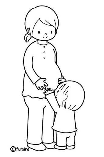 Mother Pregnant Free Coloring Pages Kleurplaten Knutselen