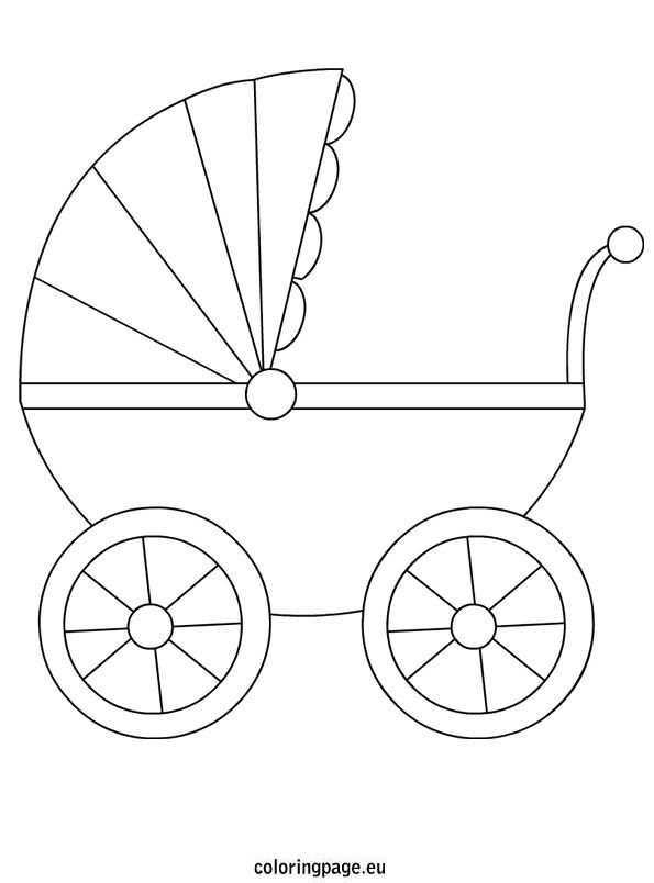 Pram Coloring Google Zoeken Knutselen Geboorte Knutselen