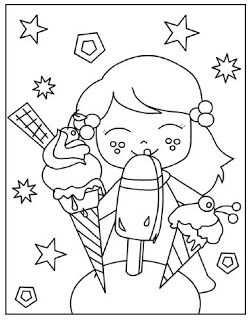 Kleurplaten Zomer Thema Ijsjes Summer Coloring Pages Summer