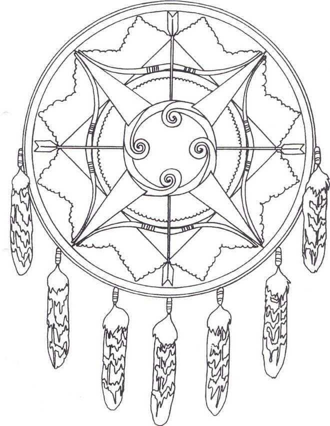 Coloring Page Native Americans Native Americans Kleurplaten