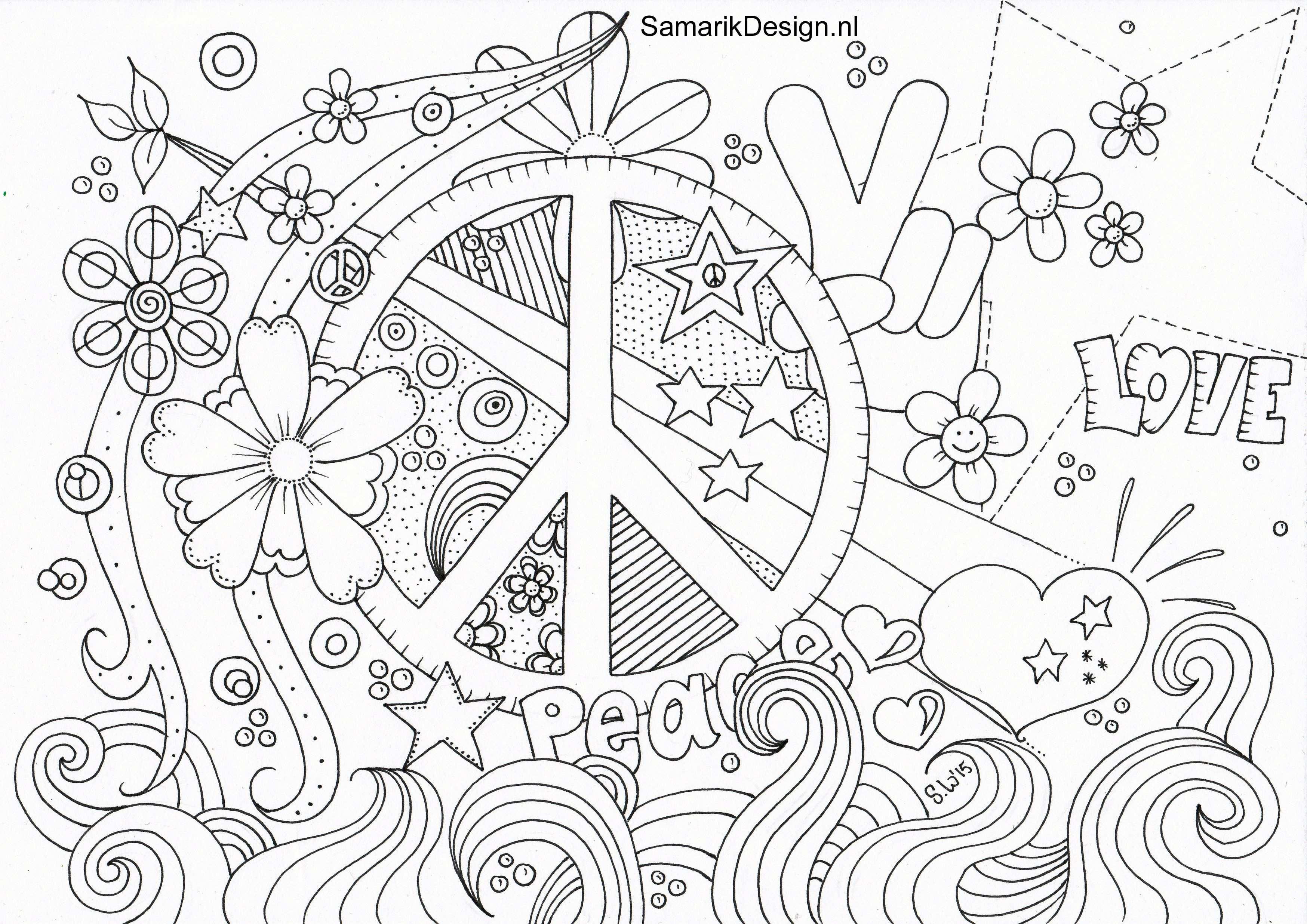 Kleurplaat Voor Volwassenen Peace Kleurplaten Kleurplaten Voor