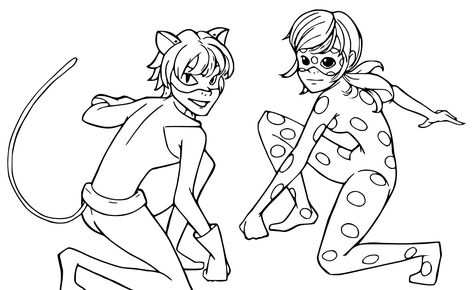 Brilliant Photo Of Ladybug And Cat Noir Coloring Pages