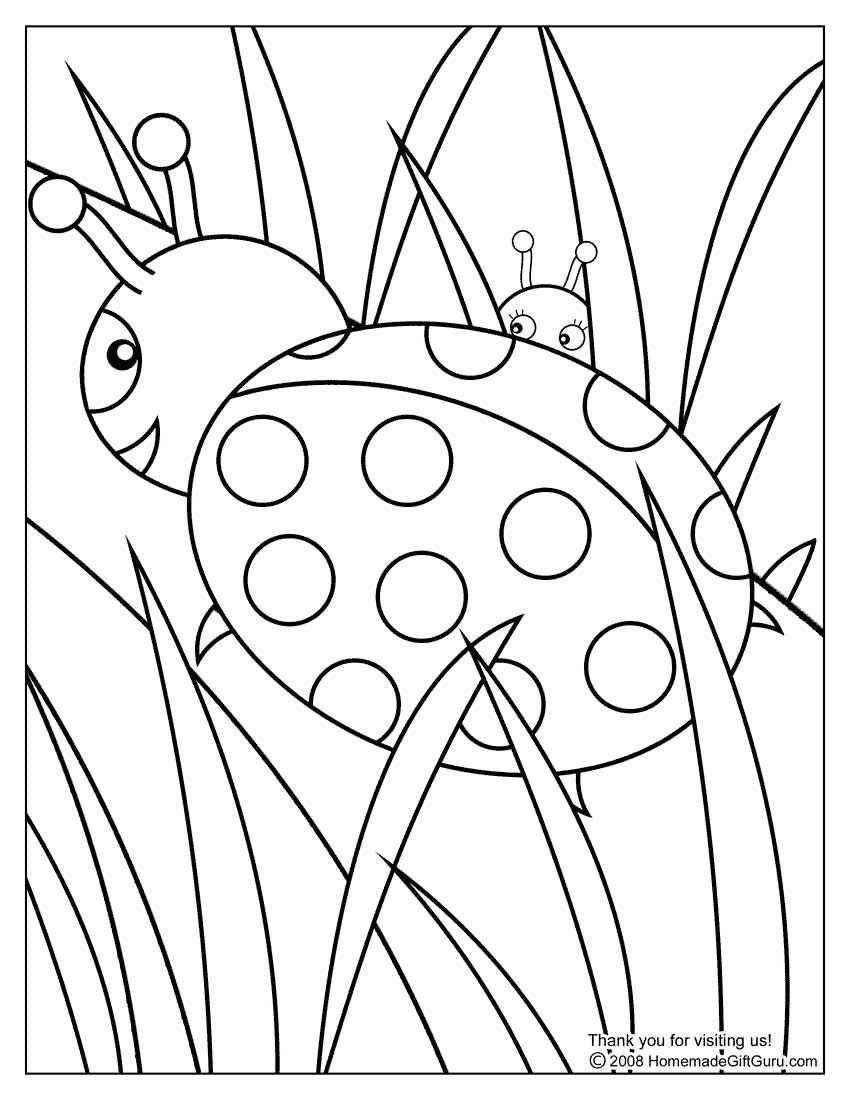 Ladybug Coloring Page Met Afbeeldingen Kleurplaten Gratis