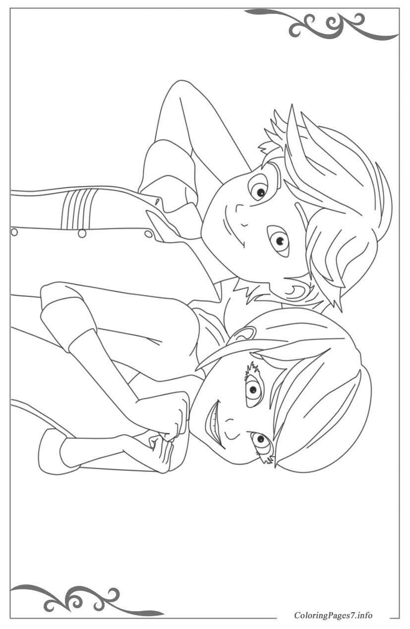 Ladybug And Cat Noir Coloring Pages Comfortable Ladybug And Cat