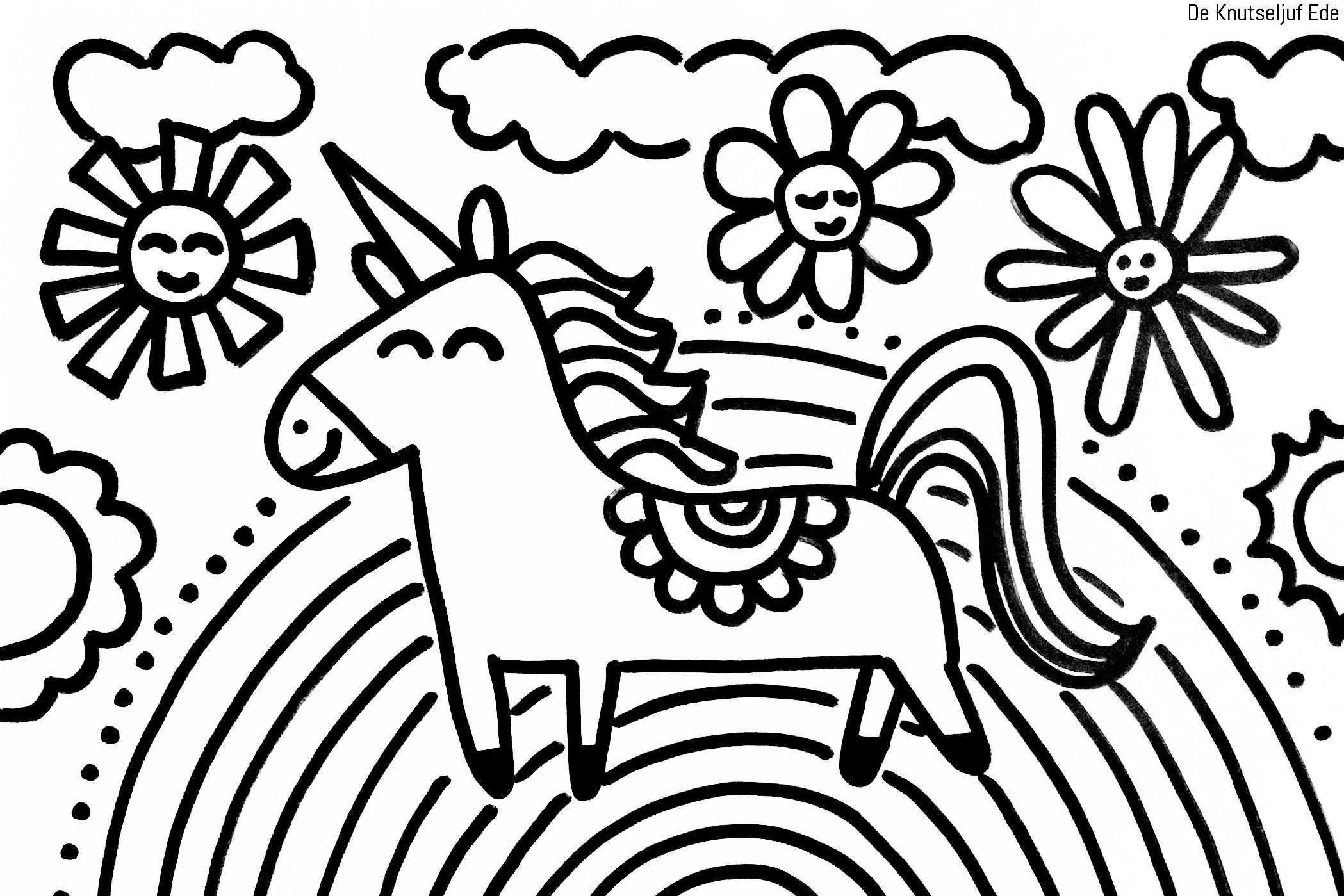 Kleurplaten Eenhoorns Unicorns Kleurplaten Eenhoorn Gratis